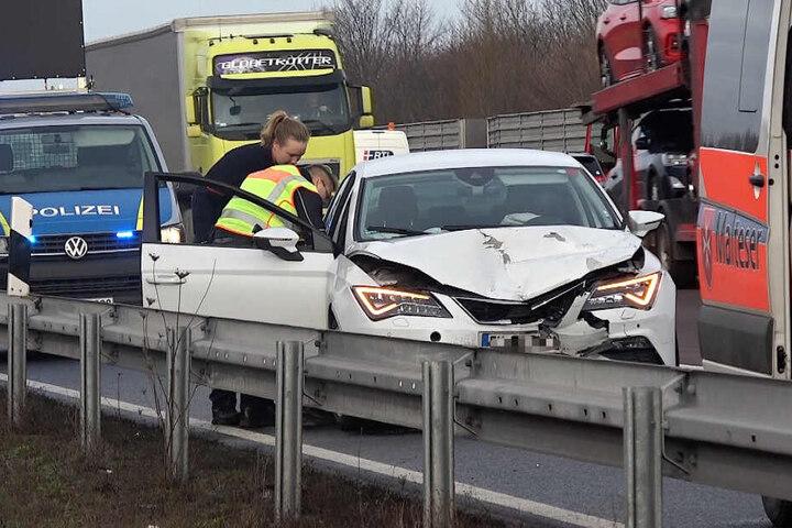 Ein weiterer Unfall ereignete sich auf der entgegengesetzten Fahrbahn.