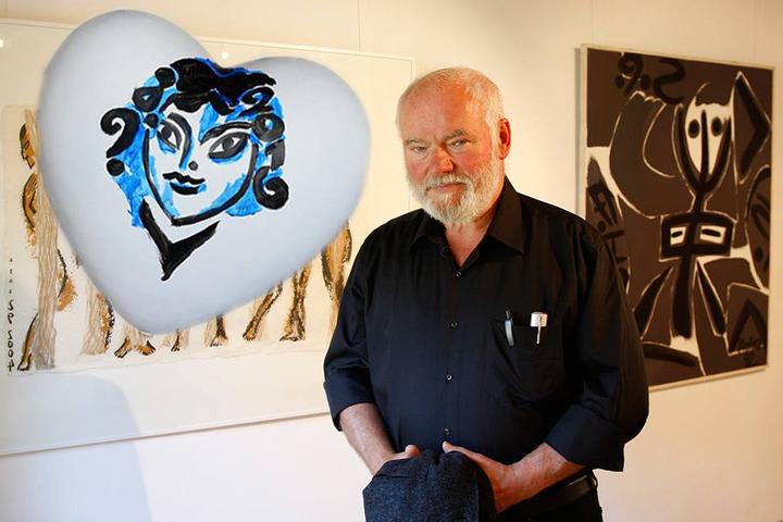 Schon bei 500 Euro liegt das Herz des Dresdner Künstlers Stefan Plenkers  (71).
