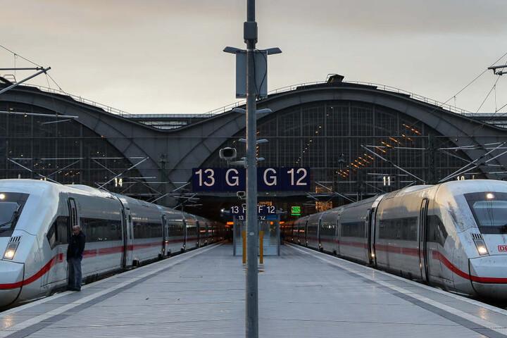 Stillstand am Leipziger Hauptbahnhof.