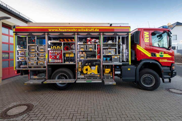 Blick auf das neue Feuerwehrauto der Ortsfeuerwehr Kesselsdorf.