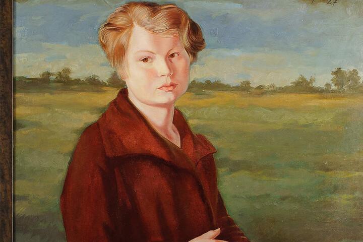 """24000 Euro für das """"Porträt Leni"""", eines der selten gewordenen Werke von  Wilhelm Lachnit."""