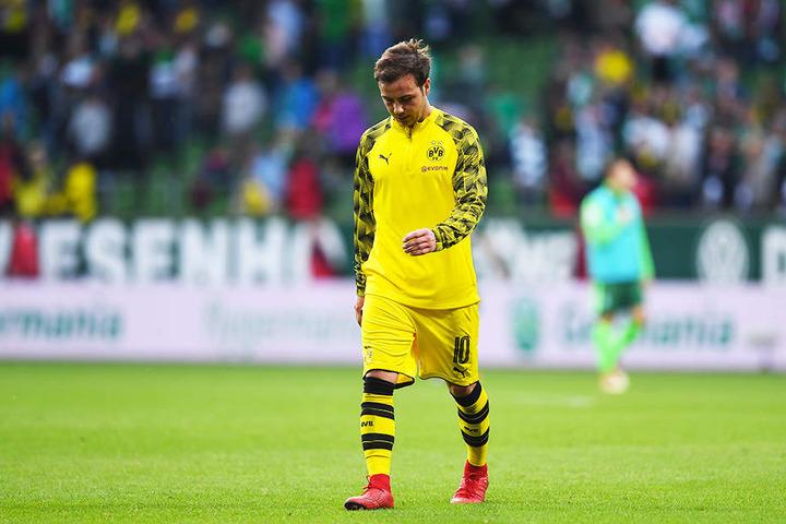 Stand gegen Bayer 04 Leverkusen zum dritten Mal in Folge nicht im Spieltagskader des BVB: Mario Götze.
