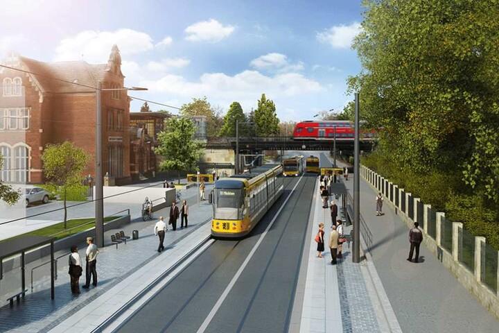 So soll die Oskarstraße nach dem Ende der Bauarbeiten aussehen.