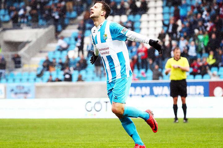 Mittelstürmer Dejan Bozic kam im Sommer aus Koblenz. Für den Südwest-Regionalligisten traf er im Vorjahr in 31 Spielen acht Mal. Für den CFC hat er bereits 15 Tore erzielt.