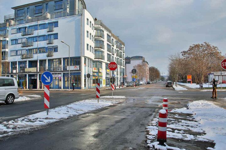 An der Dürerstraße will die Stadt Autos zukünftig durch einen neuen  Kreisverkehr lotsen.