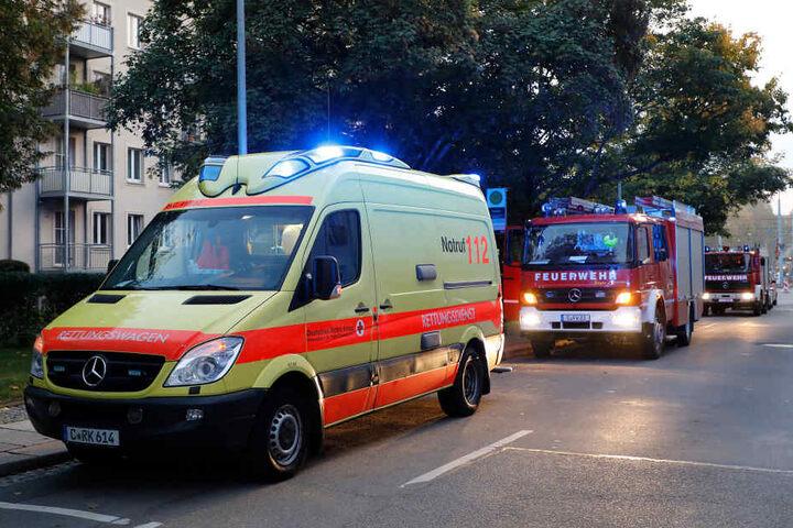 Die junge Frau wurde mit Brandverletzungen ins Krankenhaus gebracht.