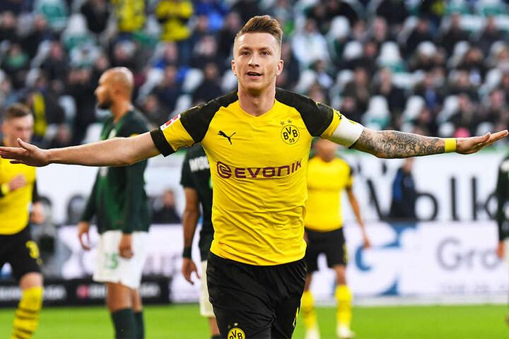 BVB-Kapitän Marco Reus erzielte das entscheidende Tor für Dortmund in Wolfsburg. Es war bereits das sechste Saisontor in der Bundesliga für den deutschen Nationalspieler.