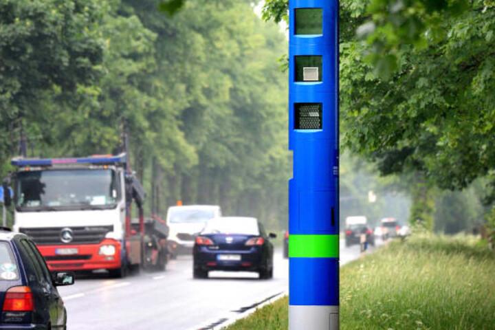 Die blaue Säule sorgt bei Autofahrern für Verwirrung!
