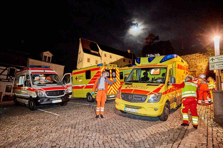 Ein Großaufgebot an Rettungskräften war vor Ort.