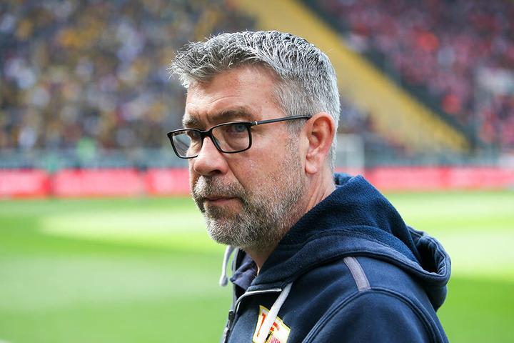 Unions Trainer Urs Fischer kommentierte die Partie in Dresden mit gemischten Gefühlen.