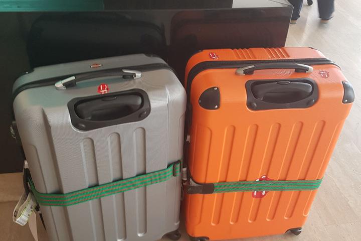 ... erst zwei Tage nach der Ankunft kamen auch die Koffer ins Hotel.