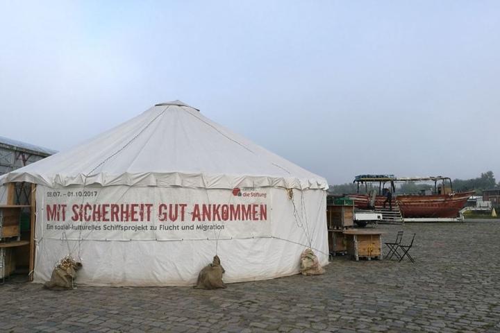 Bis Donnerstag legt das Boot in Dresden an.