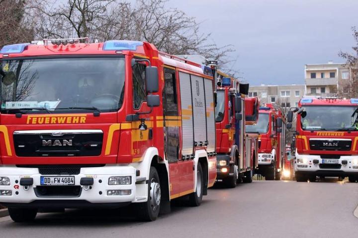 DIe Feuerwachen Löbtau und Übigau, sowie die Freiwillige Feuerwehr Ockerwitz waren im Einsatz.