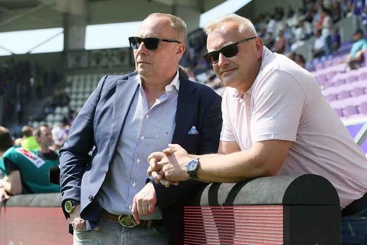 FCE-Präsident Helge Leonhardt (l.) und Geschäftsführer Michael Voigt hielten seit dem Rücktritt von Hannes Drews nach einem Nachfolger Ausschau. Der dürfte heute präsentiert werden.