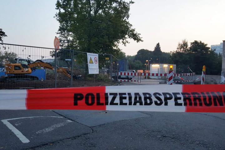 Die Luftmine wurde von der Polizei weiträumig abgesperrt.