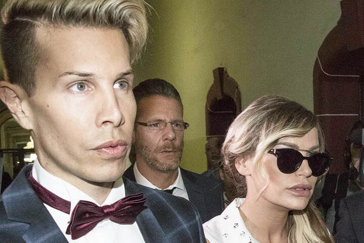Gina-Lisa Lohfink (30, rechts) mit Busenfreund Florian Wess (34).