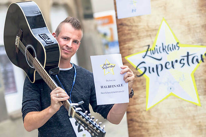Der singende Trucker aus Reinsdorf:  Tobias Clemens (28) war der bislang  beste männliche Teilnehmer überhaupt, befand die Jury.