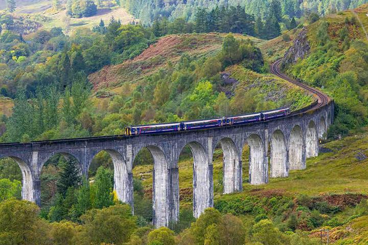 Der Glenfinnan-Viadukt hat es auf Platz zwei des Rankings geschafft.