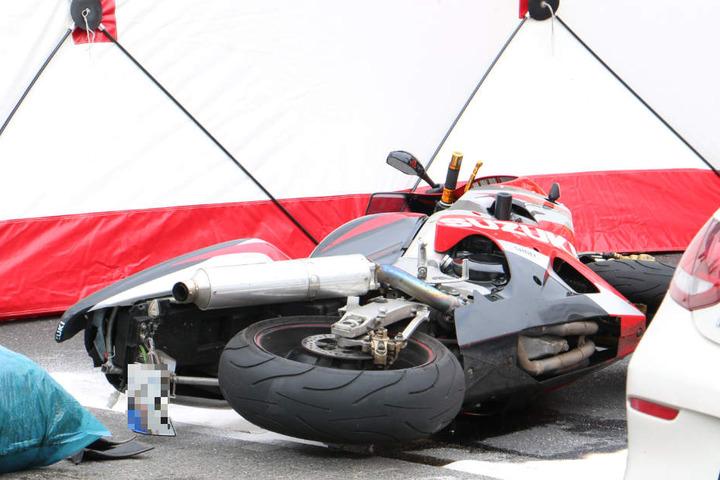 Das Motorrad des Unfallopfers