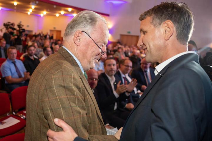 Alexander Gauland mit Björn Höcke beim Wahlkampfauftakt.