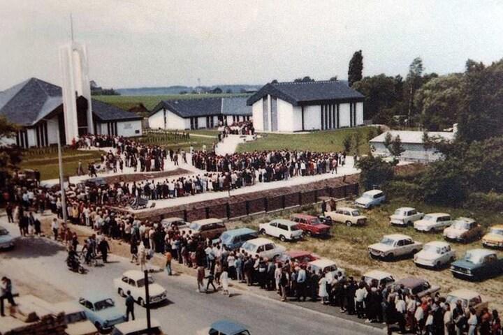 Zur Neueröffnung 1985 pilgerten 90000 Besucher (!) in den Freiberger Mormonentempel.