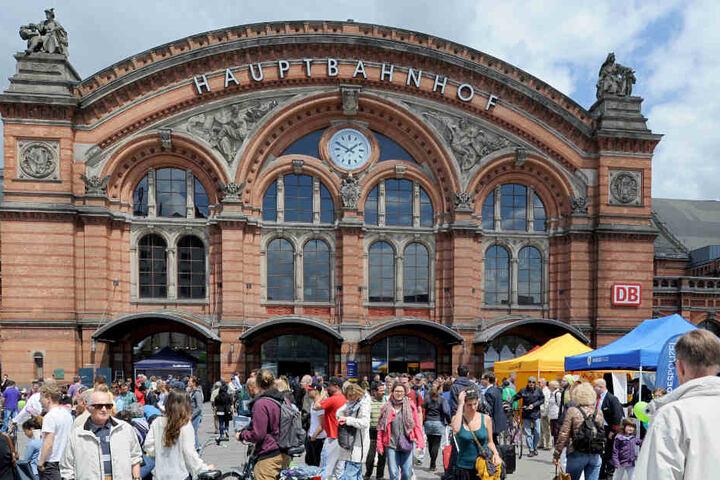 Teile des Bremer Hauptbahnhofes mussten aufgrund der Bombendrohung gesperrt werden.