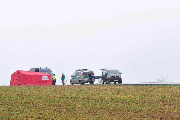 Auf diesem Feld bei Oederan eskalierte der Streit - Robert G. überfuhr laut Anklage seinen Kontrahenten mit einem Auto, das Opfer war sofort tot.