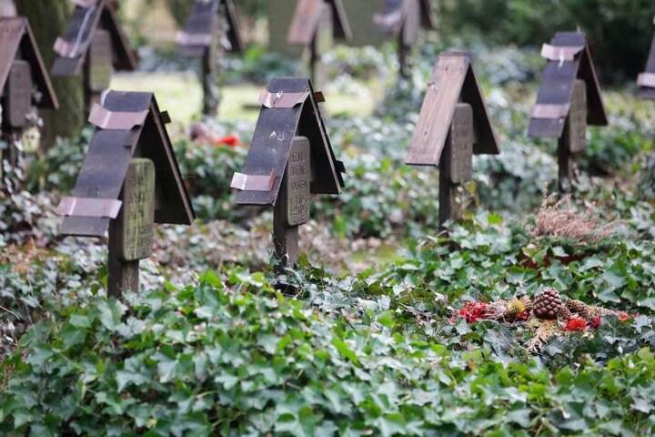 An 53 Soldatengräbern wurden die Kupferdächer abgehebelt.