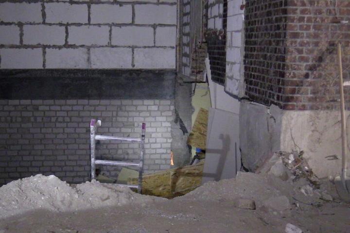 Teile der Kellerdecke waren eingestürzt.