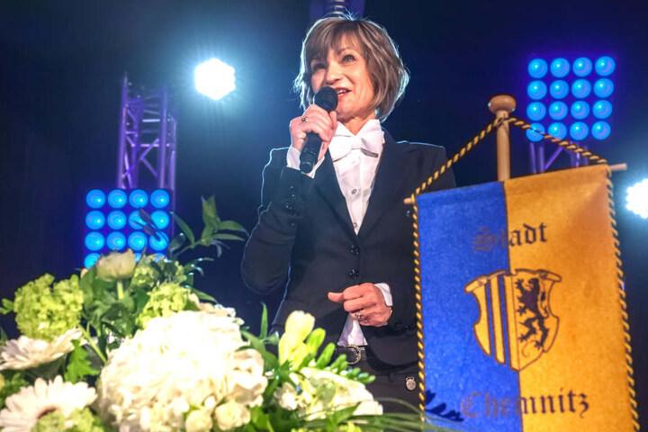 Gut gelaunt präsentierte sich die Oberbürgermeisterin bei ihrer  Fest-Rede.