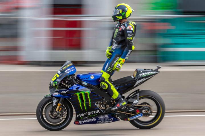 Valentino Rossi beim Freien Training am Freitag auf dem Sachsenring.