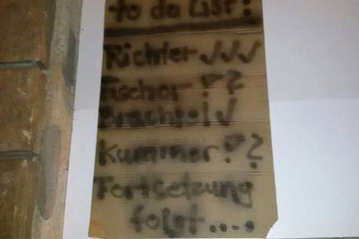 Diese Droh- und Bekennerliste hinterließ die Terrorgruppe am Tatort.