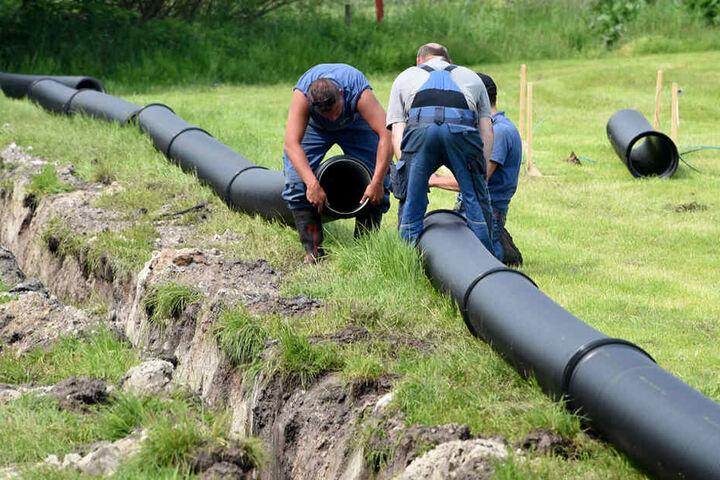 Hektoliterweise Bier fließt in Zukunft durch Pipelines aufs Gelände.