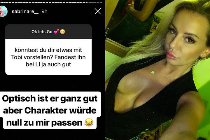 Das Foto zeigt zwei Screenshots aus dem Instagram-Profil von Sabi.