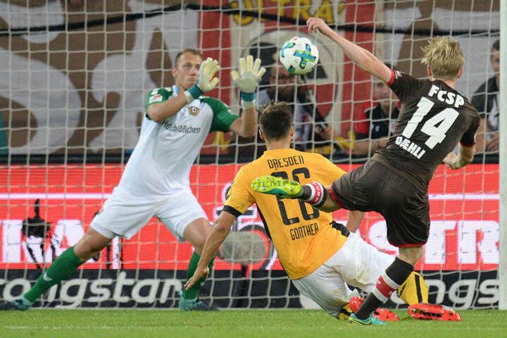 Zweimal lag St. Pauli vorn, zweimal zog Dynamo nach.