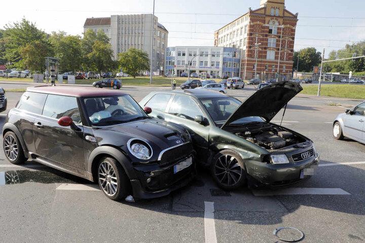 Aufgrund eines Ampelausfalls gab es einen Kreuzungscrash in Chemnitz.