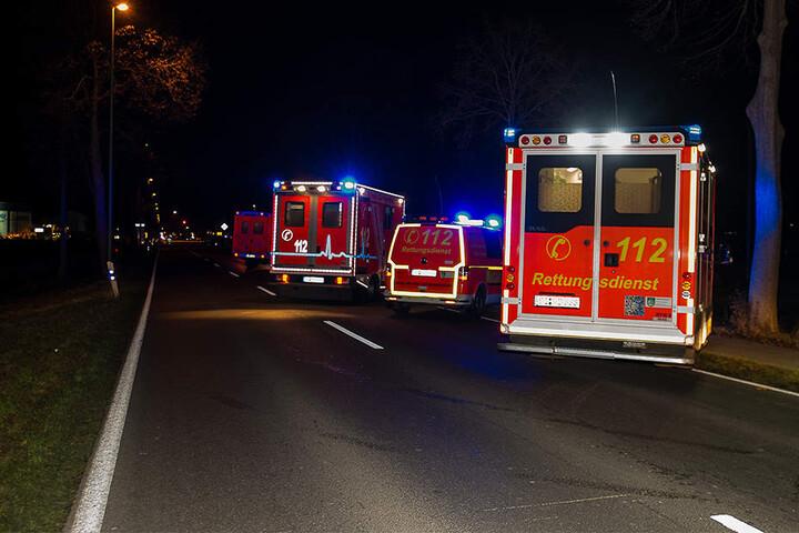 Sechs Rettungswagen rückten für den Unfall an.