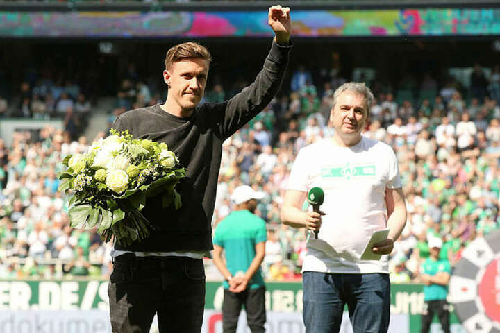 Verlässt den SVW nach drei Jahren und wurde vor dem Spiel verabschiedt: Stürmer Max Kruse.