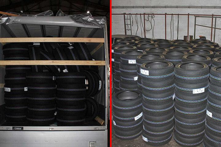 Die erbeuteten Reifen haben einen Wert von rund 19.000 Euro.
