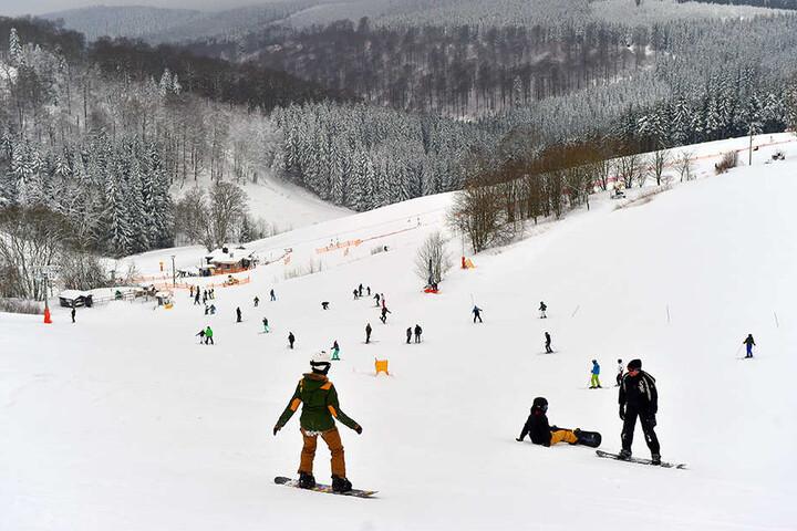 Auch Snowboarder kommen voll auf ihre Kosten.