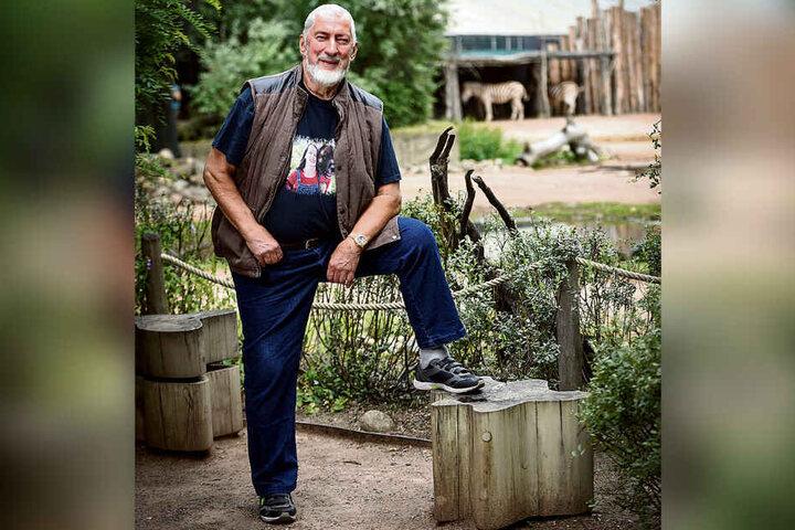 Erst Hengst, dann Stute: Opernsänger Horand Friedrich (75) ist der Patenonkel eines Zebras. Auch seine Tochter Lydia (45) hat ein Patentier im Dresdner Zoo - einen Strauß.