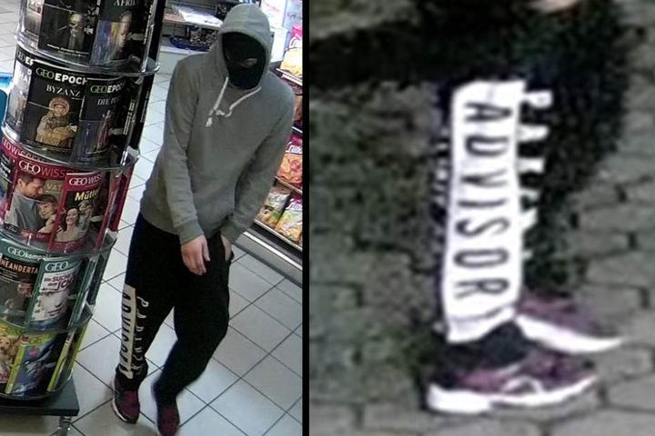 Sein Adjutant trug einen grauen Pullover sowie eine Jogging-Hose mit einem schwarz-weißen Schriftzug.