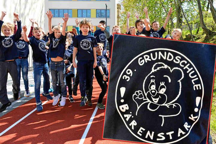 """Bärenstark: Die Plauener Grundschule stellt auch in diesem Jahr die meisten """"Marathon""""-Läufer aller teilnehmenden Schulen."""