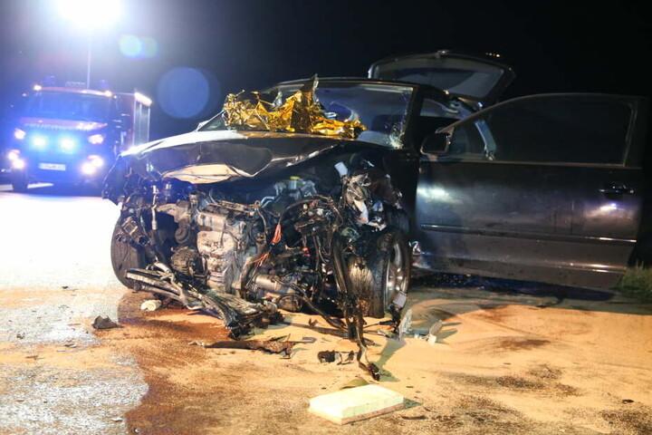 Auch der zweite Wagen wurde bei dem Unfall völlig zerstört.