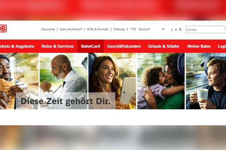 Unter anderem mit Promi-Koch Nelson Müller (links), Moderatorin Nazan Eckes (Mitte) und Ex-Rennfahrer Nico Rosberg (rechts) wirbt die Bahn derzeit auf ihrer Internetseite.