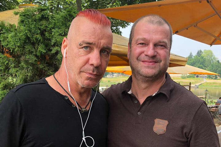 Till Lindemann und Kellner Tom.