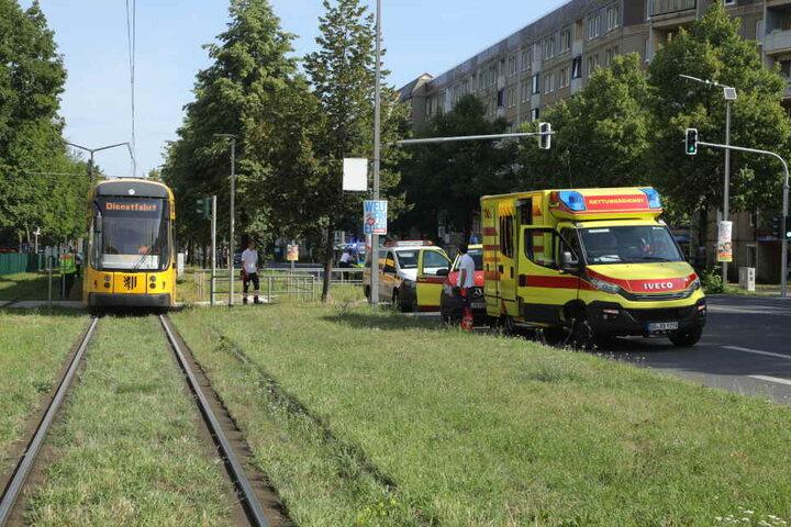 Der Bahnverkehr in Richtung Albertplatz musste zwischenzeitlich umgeleitet werden.