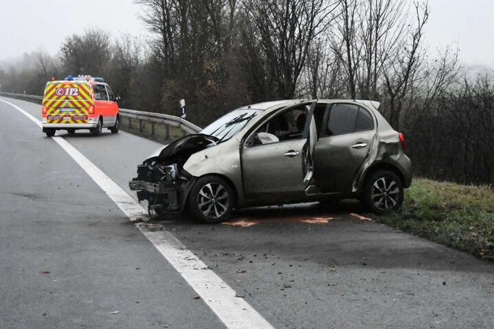 An dem Nissan entstand Totalschaden.