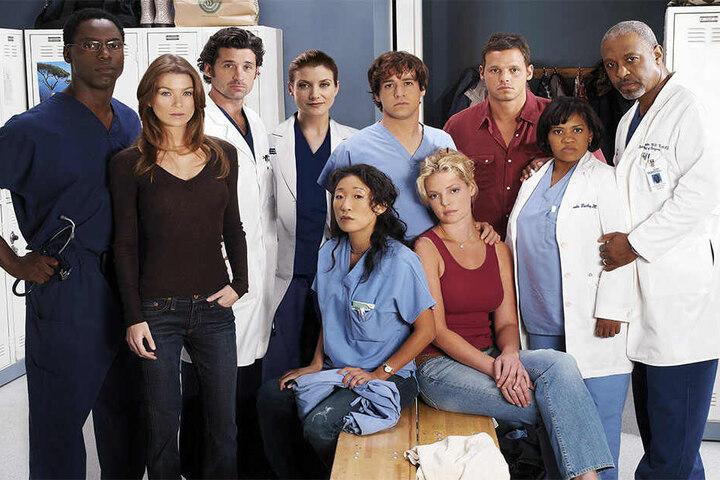 Aus vergangenen Zeiten: Gruppenbild des Casts von Grey's Anatomy 2005.