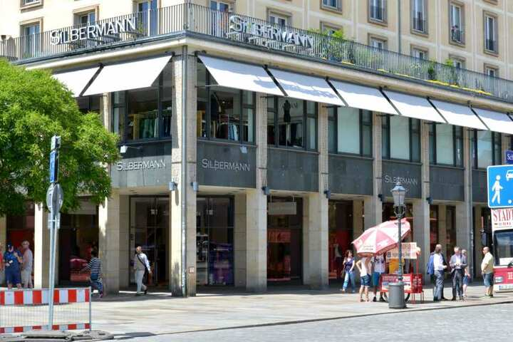 """Das Dresdner Modehaus """"Silbermann"""" hat etwas gegen den Namen."""